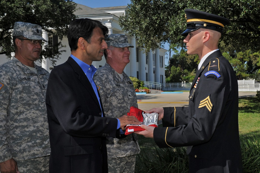 Gov. Bobby Jindal honors Guard's 1022nd Engineers