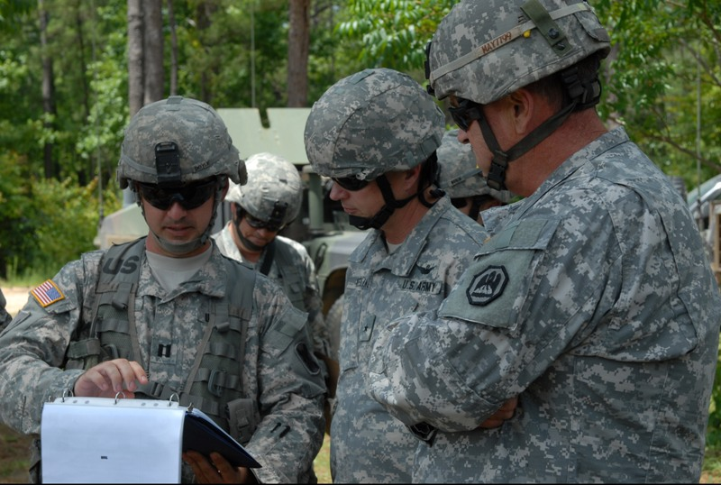 Command staff visits Tiger Brigade at Camp Shelby