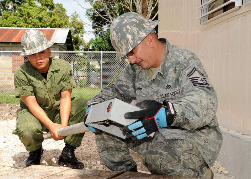 Louisiana Air Guardsmen help build four schools in Belize
