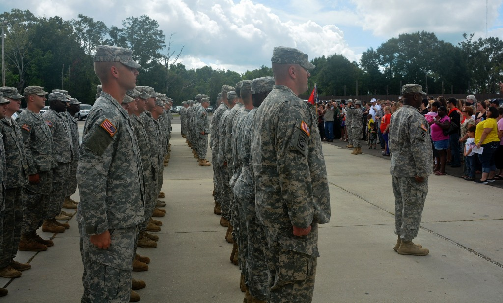 Family, friends bid farewell to Louisiana Guard Soldiers