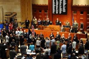 Louisiana National Guard presents colors during Joint Legislative Session to commemorate the Bicentennial of Louisiana