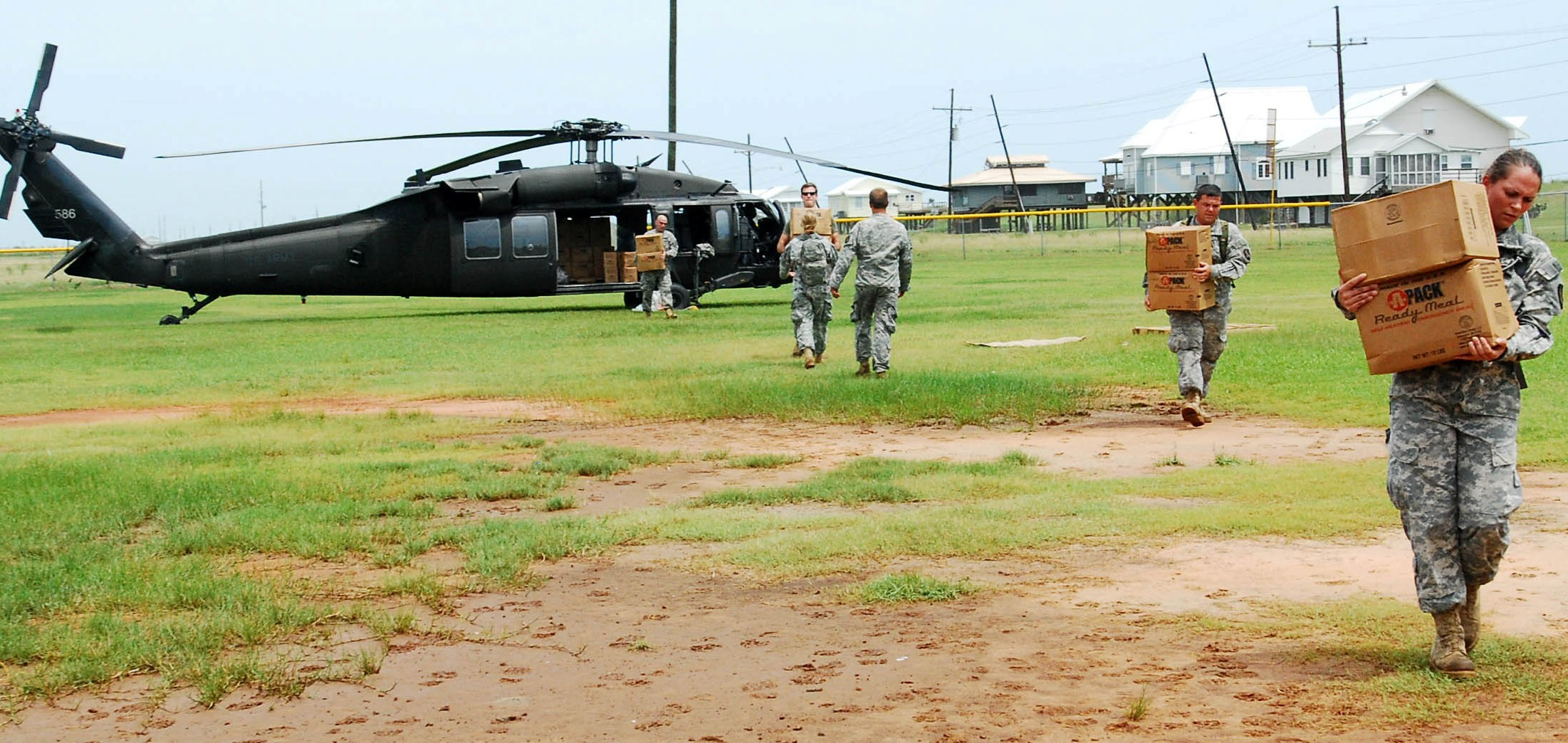 Louisiana Air Guardsmen distribute resources